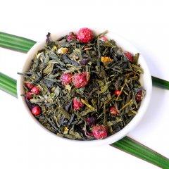 Drachenfeuer Tee, loser Sencha Tee mit rosa Pfeffer